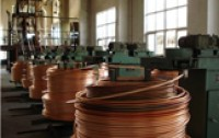 Copper Up Cast Machine With Finished Product Copper Wire Rod