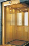 gold finish decorative elevator cabin