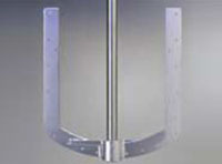 Two Bladed Anchor For Higher Viscosity Applications
