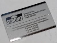 Anodized White Aluminum Name Plate